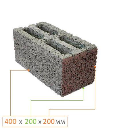 Блок стеновой бетонный СБ-ПР